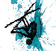 Wired Paint Splatter by Duckeh3