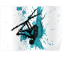 Wired Paint Splatter Poster