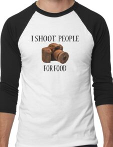 I Shoot People For Food Men's Baseball ¾ T-Shirt