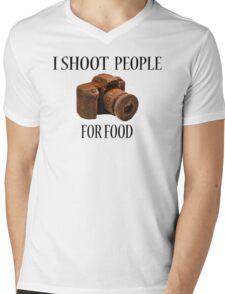 I Shoot People For Food Mens V-Neck T-Shirt