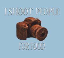 I Shoot People For Food Baby Tee
