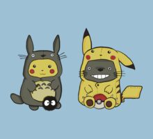 Totoro and Pikachu. by ShyPie