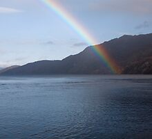 Rainbow over loch Ness Scotland by Keith Larby