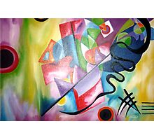 Kandinsky - oil painting Photographic Print