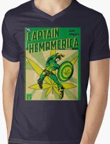 CAPTAIN HEMPMERICA Mens V-Neck T-Shirt