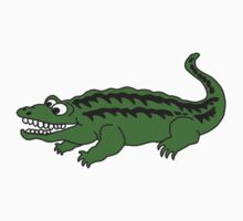 cute cartoon alligator or crocodile by wasootch