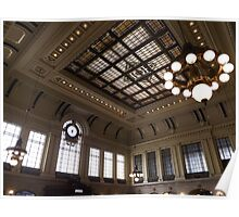 Classic Waiting Room, Historic Hoboken Ferry and Train Terminal, Hoboken, New Jersey Poster