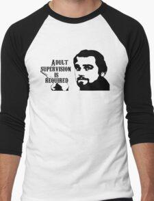 Django Unchained - Adult Supervision Men's Baseball ¾ T-Shirt