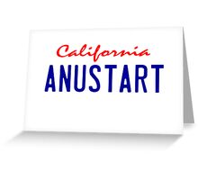 Arrested Development - ANUSTART License Plate Greeting Card