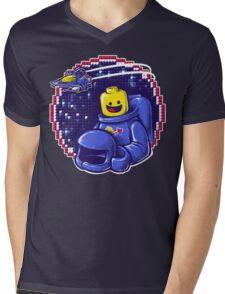 Portrait of a Space-Man Mens V-Neck T-Shirt