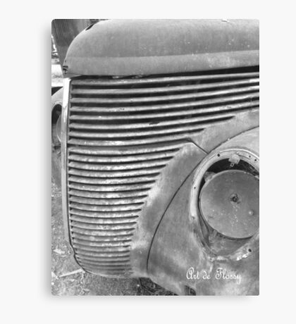 37 Ford Grill #1 Canvas Print