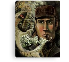 Sherlock Holmes and Cthulhu's Call Canvas Print