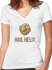 Hail Helix Fossil Women's Fitted V-Neck T-Shirt