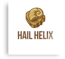 Hail Helix Fossil Canvas Print