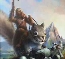 Chewbacca riding a squirrel  by sammyjackson