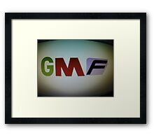 Good M0rning Films Logo Framed Print
