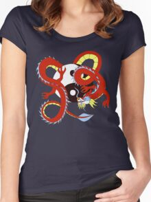 Chinese Dragon of Balance Women's Fitted Scoop T-Shirt