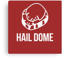Hail Dome Fossil White Canvas Print
