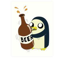 Gunter Loves Beer Art Print