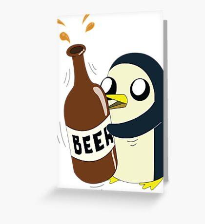 Gunter Loves Beer Greeting Card