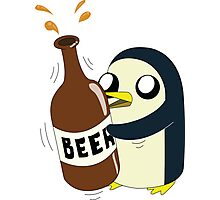 Gunter Loves Beer Photographic Print
