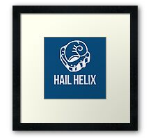 Hail Helix Fossil White Framed Print
