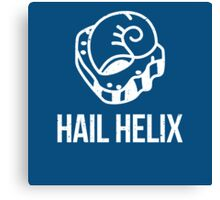 Hail Helix Fossil White Canvas Print