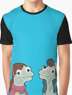 Sock Puppet Twins Graphic T-Shirt