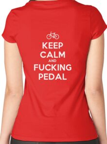 Keep Calm and F_ing Pedal Women's Fitted Scoop T-Shirt
