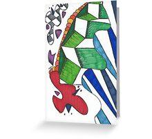 Geometric Caterpillar Greeting Card