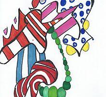 Funky Green Pearls by Blair Chranowski