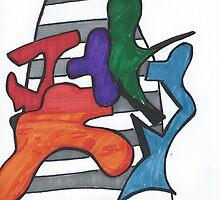Abstract Graffiti Gang by Blair Chranowski