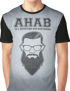 ALL HIPSTERS ARE BASTARDS - Funny (A.C.A.B) Parody  Graphic T-Shirt