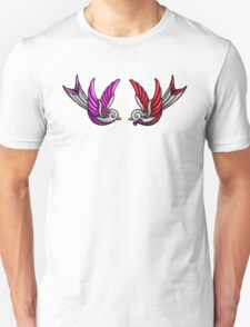 Tattooed Swallow Pair T-Shirt
