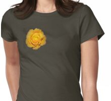 """""""Spot on"""" yellow rose  Womens Fitted T-Shirt"""