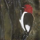 Woodpecker painting by librapat