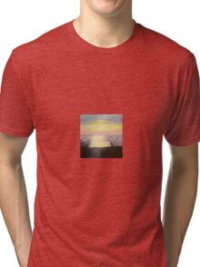 sunset oil painting Tri-blend T-Shirt