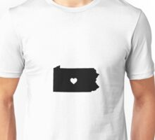 Pennsylvania <3 Unisex T-Shirt