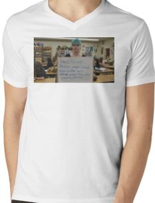 FEMINISM: A TEENS FIGHT FOR EQUALITY IN THE WORLD Mens V-Neck T-Shirt
