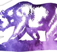 Purple California Bear Flag Nebula Sticker