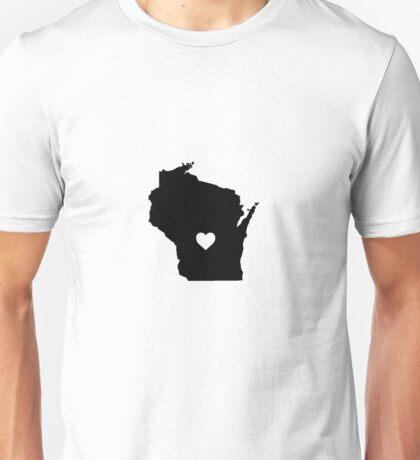 Wisconsin <3 Unisex T-Shirt