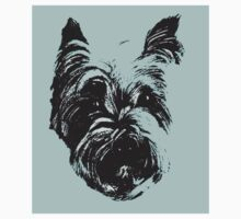 Westie Wonder Graphic ~ black and sea green One Piece - Long Sleeve