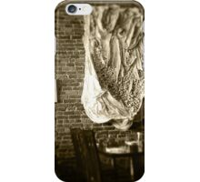 Farmer's Cafe Brick Wall Vintage Style Black and White Photograph iPhone Case/Skin
