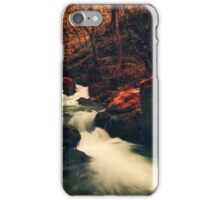 River in red surreal forest iPhone Case/Skin