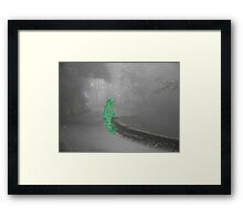 alone in the voidmatrix Framed Print