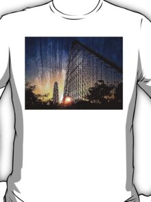 Mamba Roller Coaster at Sunset Grunge T-Shirt