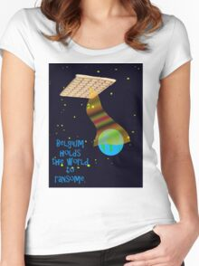 Belgian spaceship holding the world to ransome.  Women's Fitted Scoop T-Shirt
