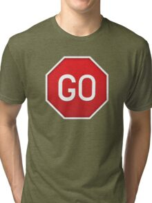 Shirt 46 / 100 - Helpful Sign Tri-blend T-Shirt