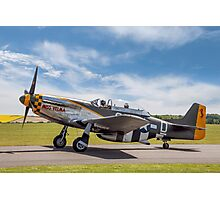 "TF-51D Mustang N251RJ 44-84847 CY-D ""Miss Velma"" Photographic Print"