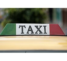 Taxi Sign Photographic Print